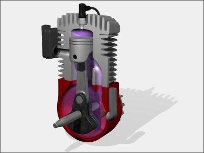 Eigenschaften eines 2Takt Motor: